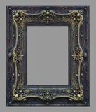 Элементы орнамента, винтажная рамка золота флористическая стоковое изображение