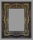 Элементы орнамента, винтажная рамка золота стоковое фото