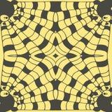 Эскиз руки вектора вычерченный абстрактной безшовной иллюстрации картины на желтой предпосылке иллюстрация вектора