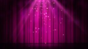 Этап с освещением пятна, пустая сцена диско для шоу, церемония вручения премии или реклама на темной пурпурной предпосылке иллюстрация вектора