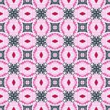 Этническая геометрическая безшовная винтажная картина ornamental мандалы медальона иллюстрация вектора
