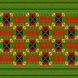 этническая картина безшовная Ткань Kente Племенная печать бесплатная иллюстрация