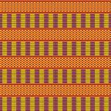 этническая картина безшовная Ткань Kente Племенная печать иллюстрация вектора