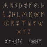 этнический набор шрифта бесплатная иллюстрация