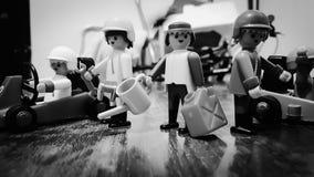 Этот Playmobils если они варварски стоковое фото