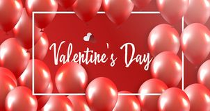 Valentines Day banner vector illustration