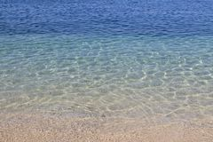 Ясная предпосылка морской воды, голубая естественная текстура стоковые фото
