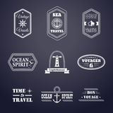 �л� �н�е�нVector set of marine style labelsе�а Stock Photo