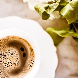 Я люблю мой кофе утра стоковое фото rf