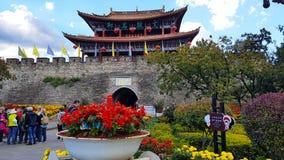 Южные ворота старого городка Dali, Юньнань, Китая стоковое фото rf