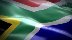 южно-африканский флаг 3D развевая в ветре Предпосылка флага ткани Южной Африки бесплатная иллюстрация