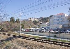 Уборная одна из областей большего Сочи на Чёрном море стоковая фотография rf