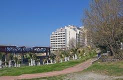 Уборная одна из областей большего Сочи на Чёрном море стоковое изображение
