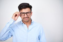 Уверенный бизнесмен в eyeglasses стоковые изображения rf