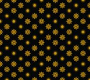 Vector holiday`s gold snowflakes on black background stock illustration
