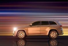 Укладка в форме движения SUV бесплатная иллюстрация