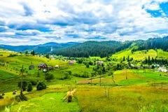 Украинские прикарпатские горы 02 стоковое изображение
