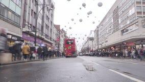 Улица Оксфорда, Лондон, Англия сток-видео