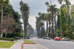 Улицы Беверли-Хиллз, Калифорнии стоковое фото rf