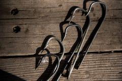 Удить стальные крюки для удить стоковые изображения rf