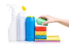 Установите чистящих средств для домашней чистки стоковое изображение