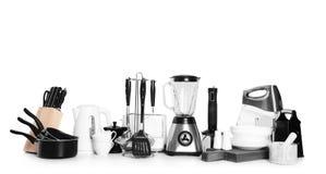 Установите чистых cookware и приборов стоковое изображение rf
