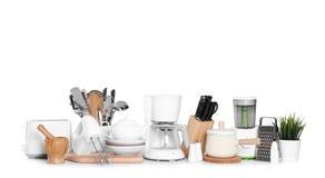 Установите чистого изолированных cookware и приборов стоковые фотографии rf