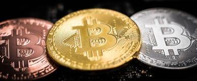 Установите bitcoins стоковая фотография rf