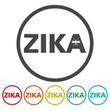Установленные значки вируса Zika бесплатная иллюстрация