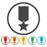 Установленные значки наград бесплатная иллюстрация
