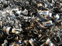 Утиль рециркулирует текстуру металла для предпосылки индустрии стоковое фото