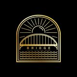 Шаблон вектора логотипа моста иллюстрация штока