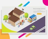 Шаблон дизайна знамени сети вектора обслуживания перестановки иллюстрация штока