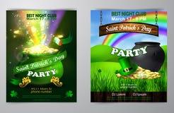 Шаблон дизайна плаката дня St. Patrick s вектора бесплатная иллюстрация