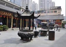 Шанхай, 2-ое может: Место молитве от двора Jade Buddha Temple в Шанхае стоковая фотография