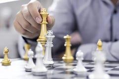 Шахматы дела, умное дело, деловая игра каждый обмен игры стоящий стоковое изображение