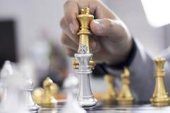 Шахматы дела, умное дело, деловая игра каждый обмен игры стоящий стоковые фото