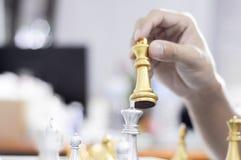 Шахматы дела, умное дело, деловая игра каждый обмен игры стоящий стоковые изображения