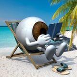 Шарик глаза Брауна на пляже бесплатная иллюстрация