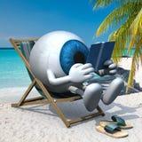 Шарик голубого глаза на пляже бесплатная иллюстрация
