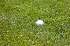 Шар для игры в гольф в траве стоковые изображения rf
