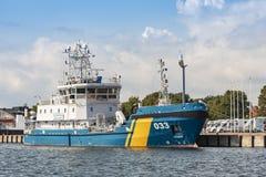 Шведский сосуд борьбы с загрязнением окружающей среды KBV службы береговой охраны 033 стоковые фотографии rf