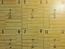 Шкафчик спорт Шкафчик фитнеса конец вверх стоковые фотографии rf
