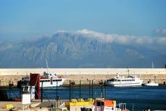 Шлюпки в гавани, Тарифе, Испании стоковая фотография