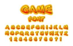 Шрифт для имени игры иллюстрация штока