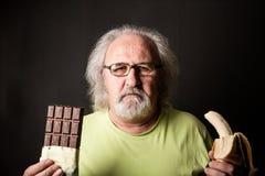 Шоколад или банан стоковая фотография rf
