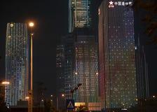 Шоу света центра города стоковые изображения rf