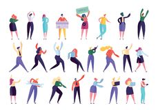 Творческий набор символов людей агенства дела иллюстрация вектора