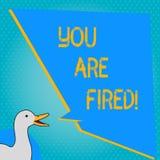 Текст почерка писать вас увольнян Смысл концепции выходя от работы и, который стали безработного не конца карьера иллюстрация вектора