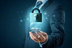 Телефон идентификации стороны умный открыть стоковые фотографии rf